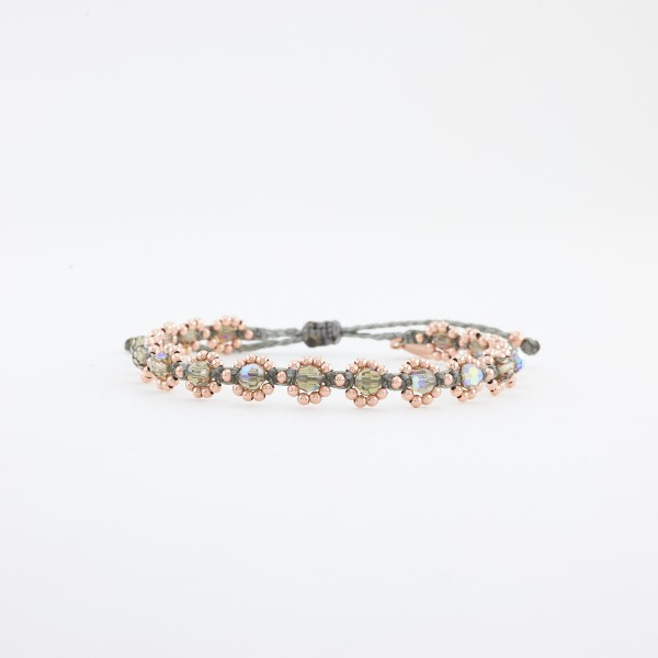 Bloom Chrystal Black Diamond Armband