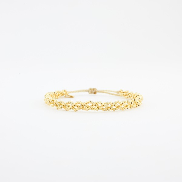 Luna Plait Armband gelbgold vergoldet
